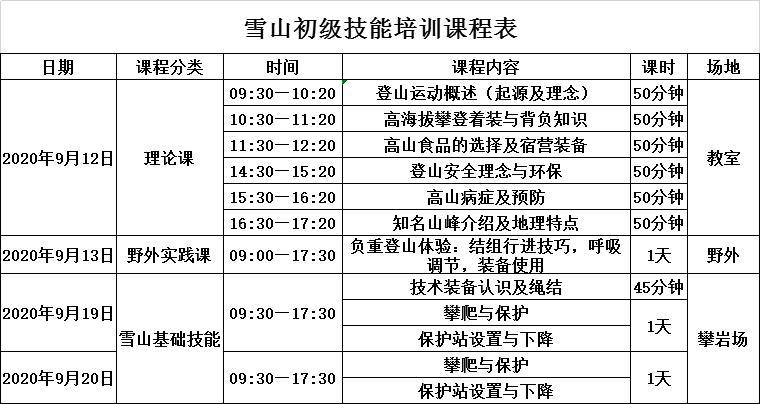 雪山初级技能课程表.png