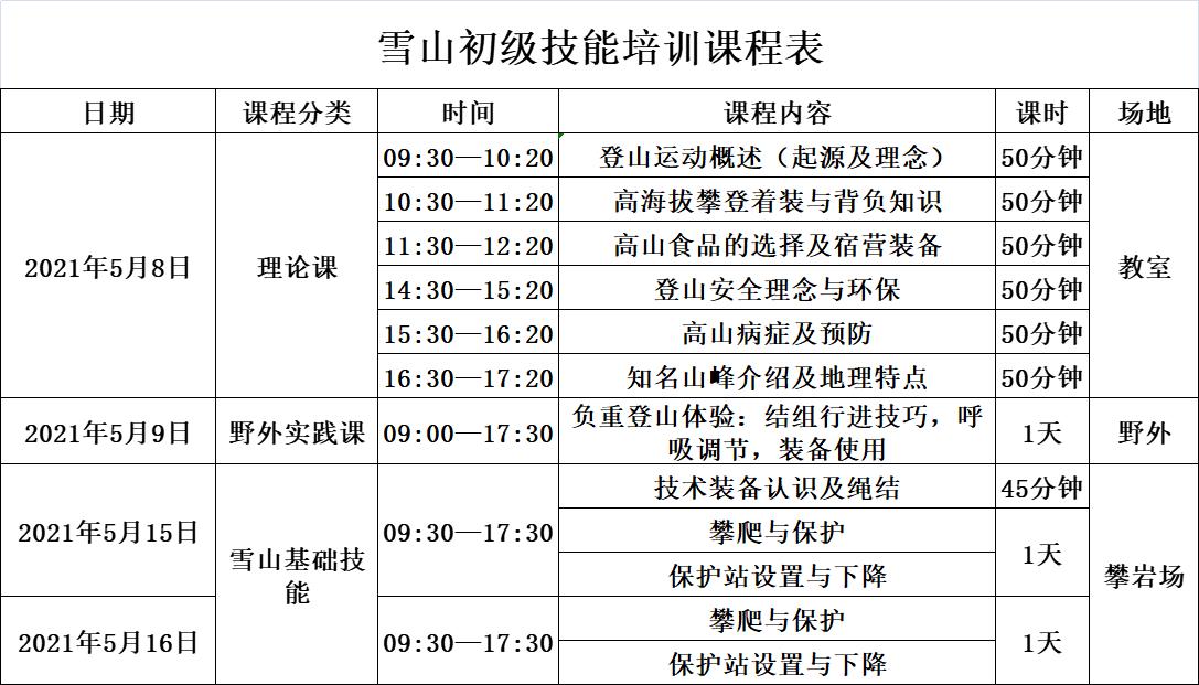 5月初级雪山技能课程表.png
